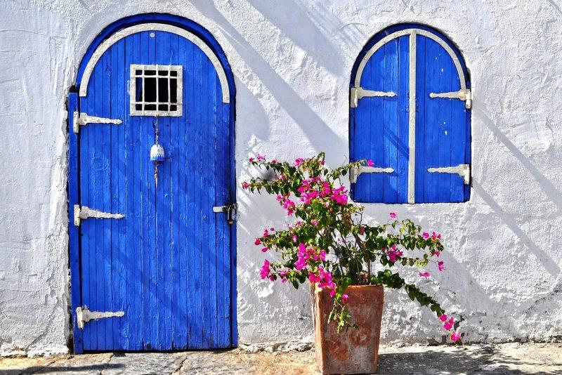 Drzwi do domku w Turcji