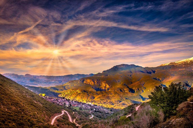 Grecja wzgórza
